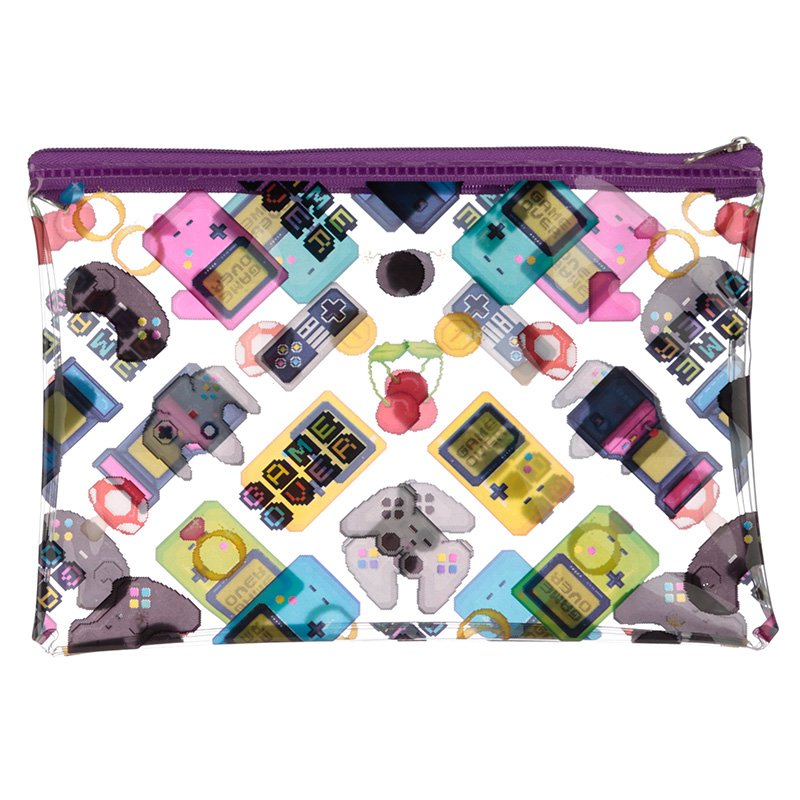 Clear PVC Toiletry Bag - Game Over