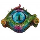 All Seeing Eye Metallic Rainbow Dragon Trinket Box