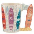 Ceramic Surfboard Handle Mug