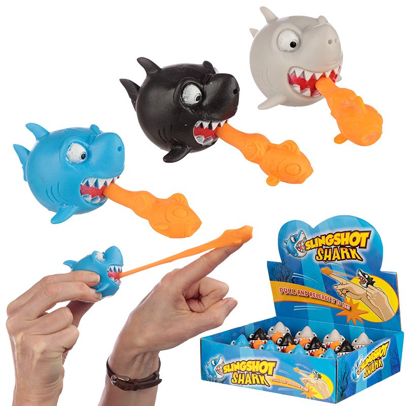 Fun Kids Shark Sling Shot Toy