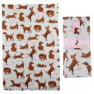 Fun Catch Patch Dog Design Poly Cotton Tea Towel