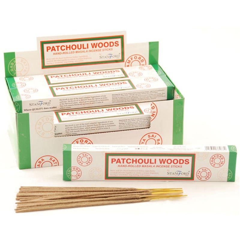 Stamford Masala Incense Sticks - Patchouli Woods (12 Packs)