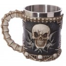 Decorative Fantasy Skull and Spine Tankard