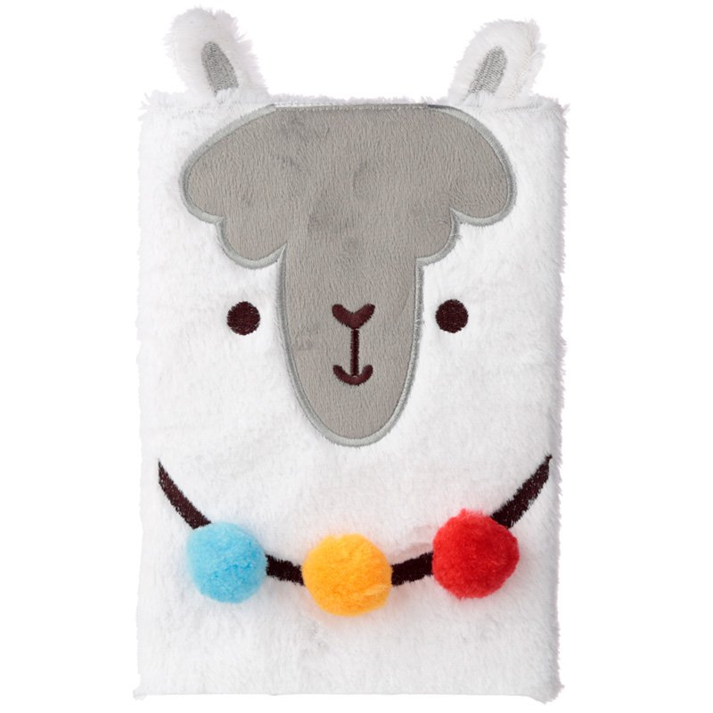 Fluffy Plush Notebook - Llama