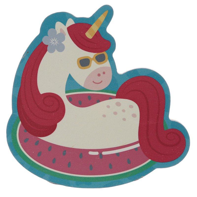 Set of 4 Coasters - Vacation Vibes Unicorn