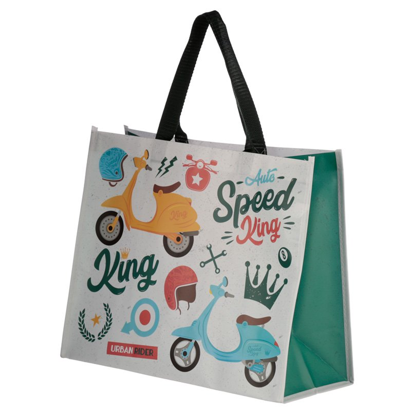 Scooter Speed King Design Durable Reusable Shopping Bag