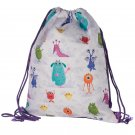 Handy Drawstring Bag - Fun Kids Monsters Design