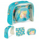 Tropical Unicorn Vanity Bag Set of 3