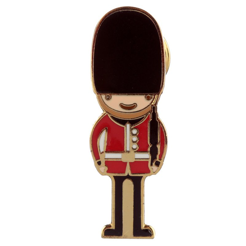Novelty London Guardsman Design Enamel Pin Badge