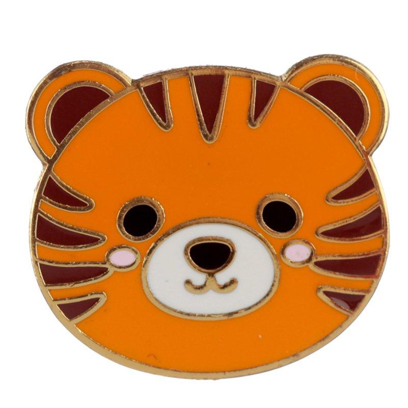 Tiger Enamel Pin Badge