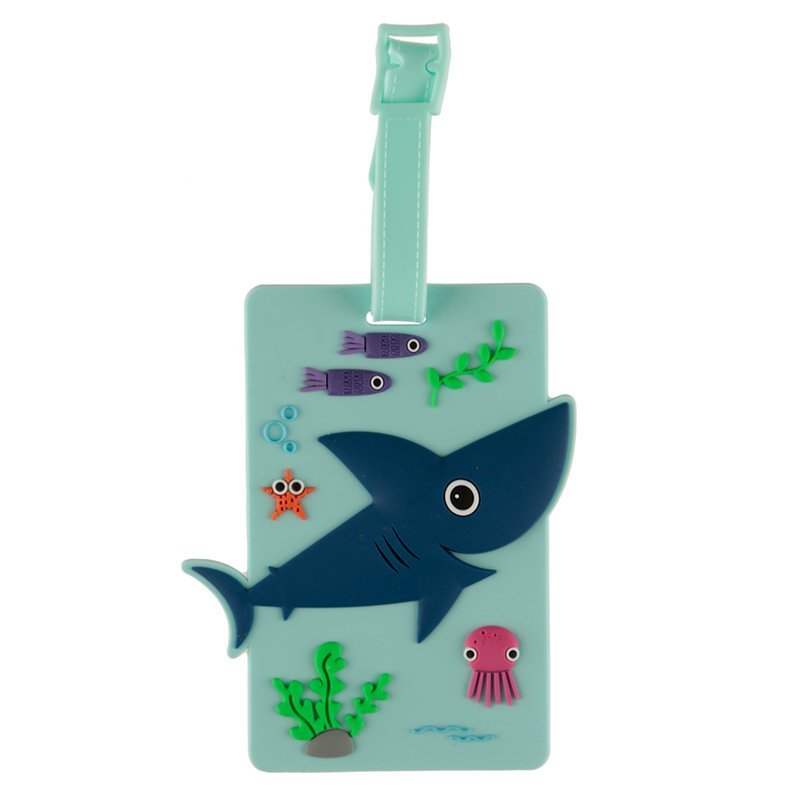 PVC Luggage Tag - Shark