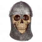 Gothic Chain Mail Helmet Skull Ornament
