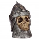 Gothic Skull in Helmet Ornament