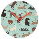 Fun Catch Patch Dog Design Wall Clock