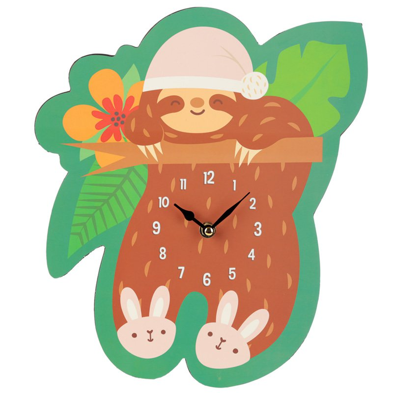 Sleepy Sloth Wall Clock