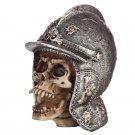 Gothic Skull in Medieval Helmet Ornament