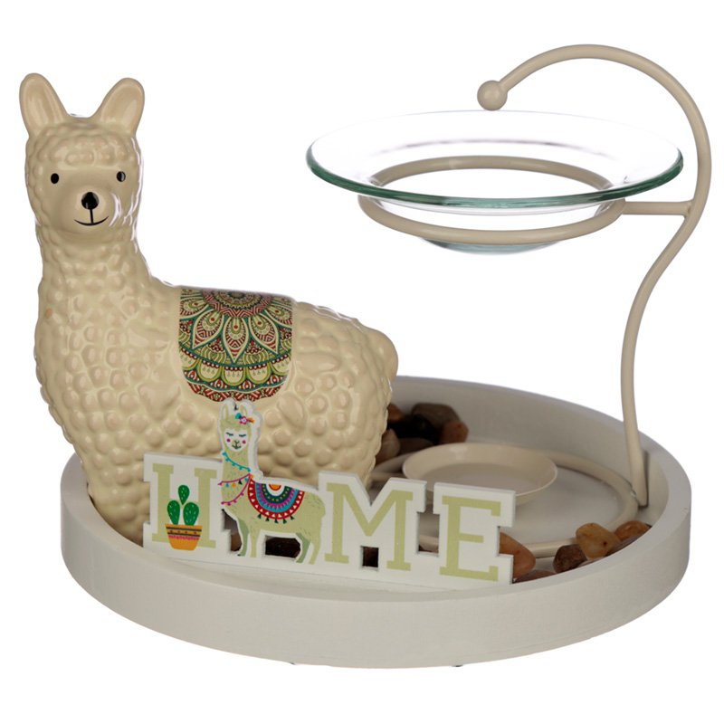 Eden Aroma Set - Llama Oil Burner & Ceramic Figurine