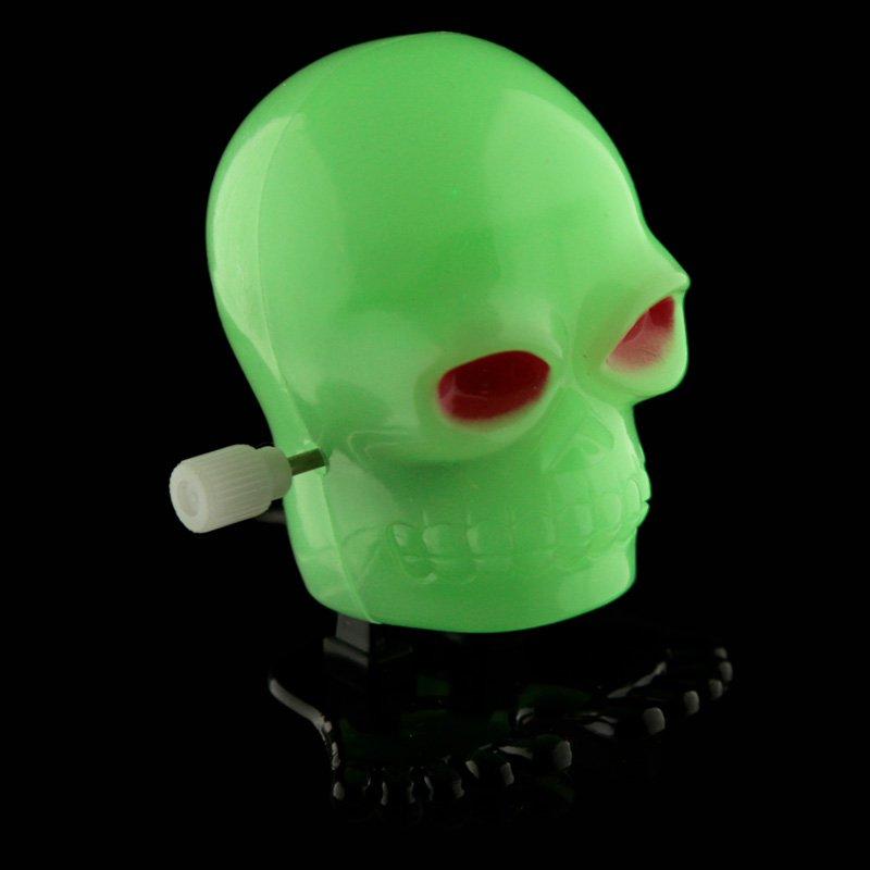Kids Wind Up Skull - Glow in the Dark