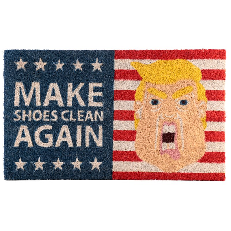 Coir Door Mat - President Slogan