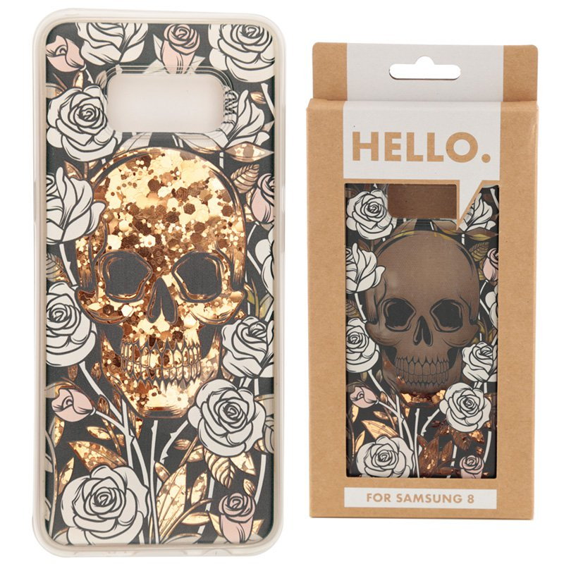 Samsung 8 Phone Case - Skulls & Roses Design