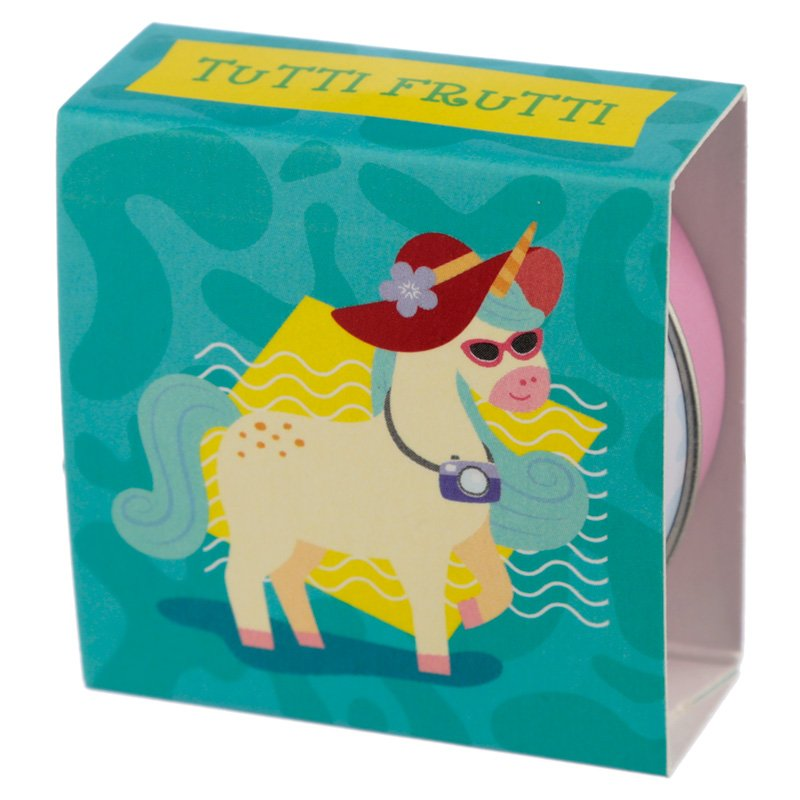 Flavoured Lip Balm in a Tin - Vacation Vibes Unicorn