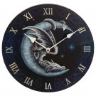 Decorative Fantasy Sweet Dreams Dragon in Moon Wall Clock