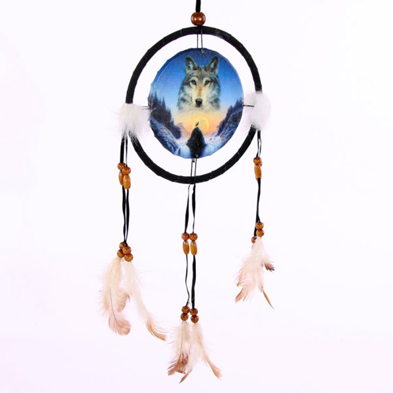 "Decorative Cosmic Wolf Spirit in the Sky 16cm (6"") Dreamcatcher"