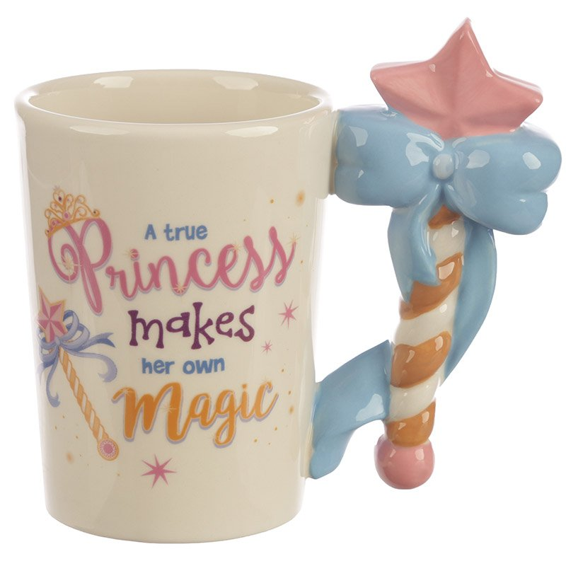 Princess Wand Handle Ceramic Mug