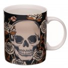 Heat Colour Changing Bone China Mug - Skulls and Roses