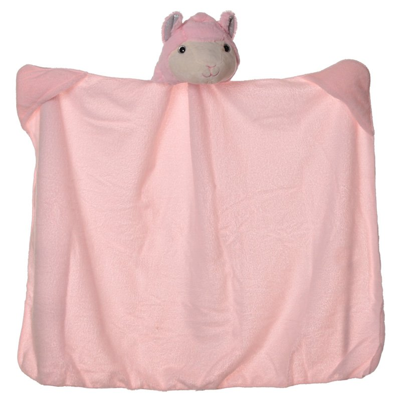 Plush Pink Llama Wearable Blanket