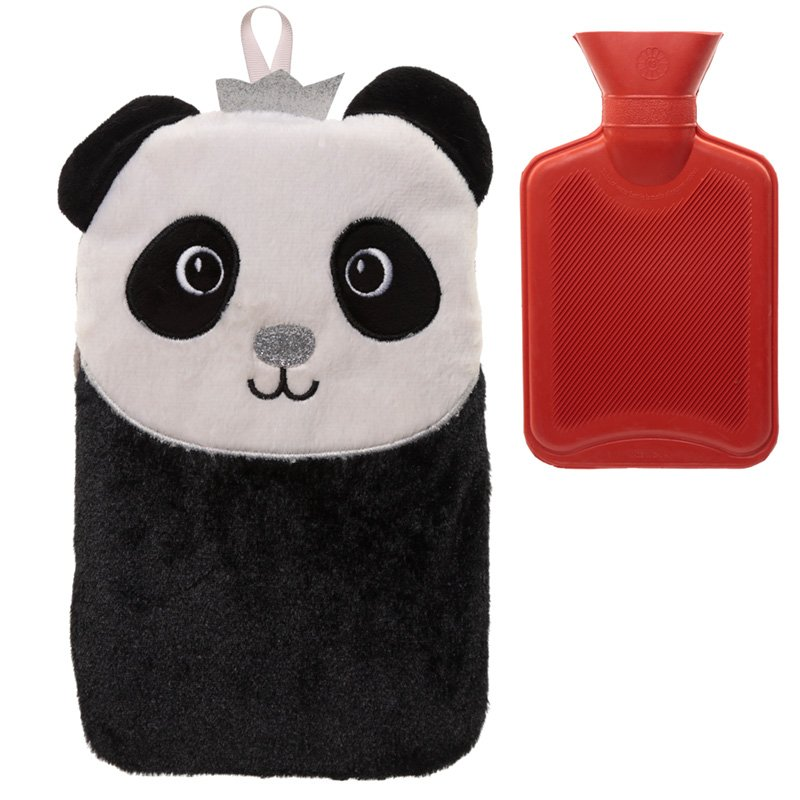 Plush Panda 1 Litre Hot Water Bottle and Cover