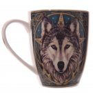 Wolf Head Bone China Mug