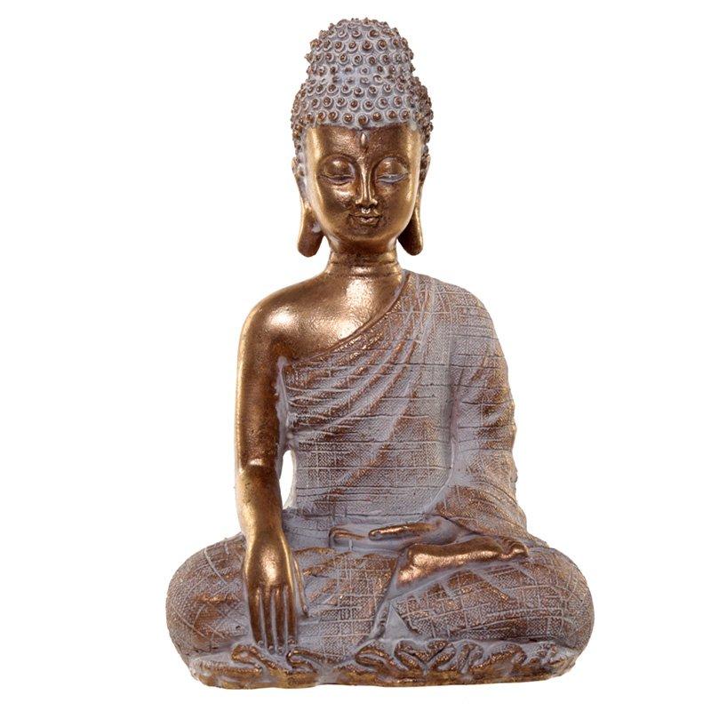 Thai Buddha Figurine - Gold and White Enlightenment