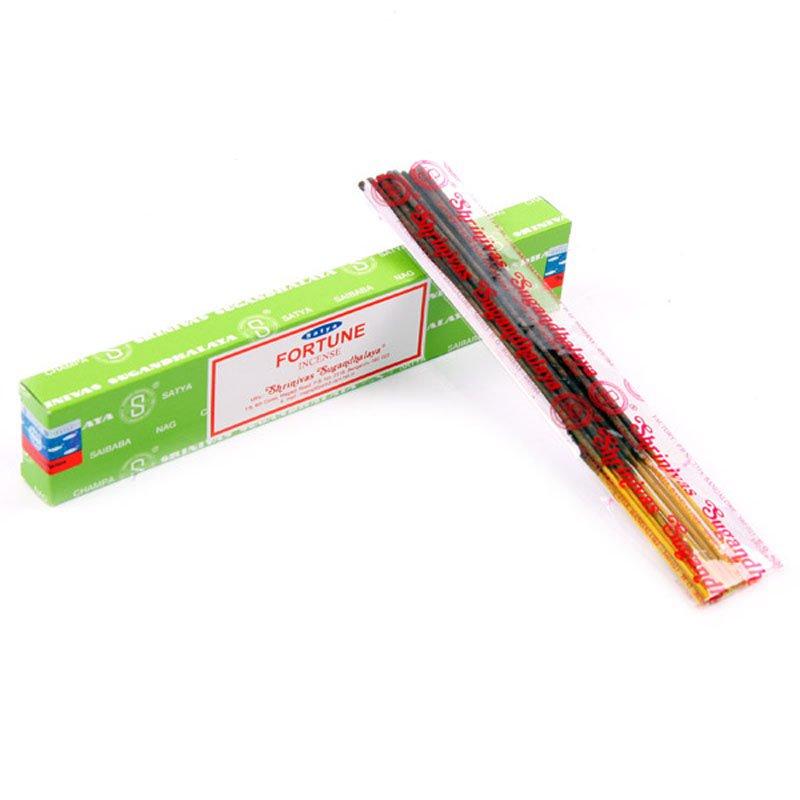 Satya Nag Champa Incense Sticks - Fortune (12 Packs)