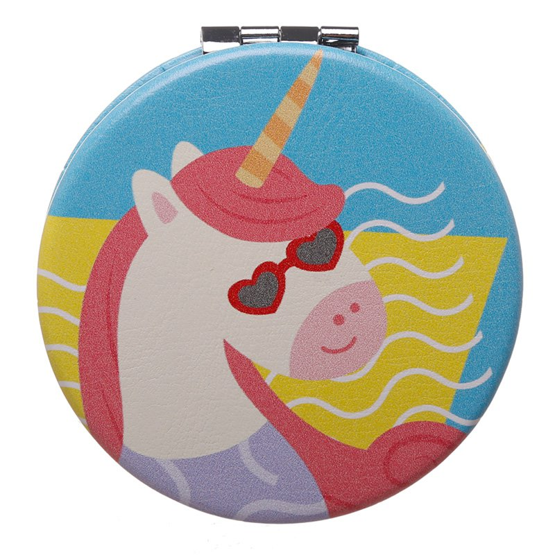 Compact Mirror - Unicorn Vacation Vibes