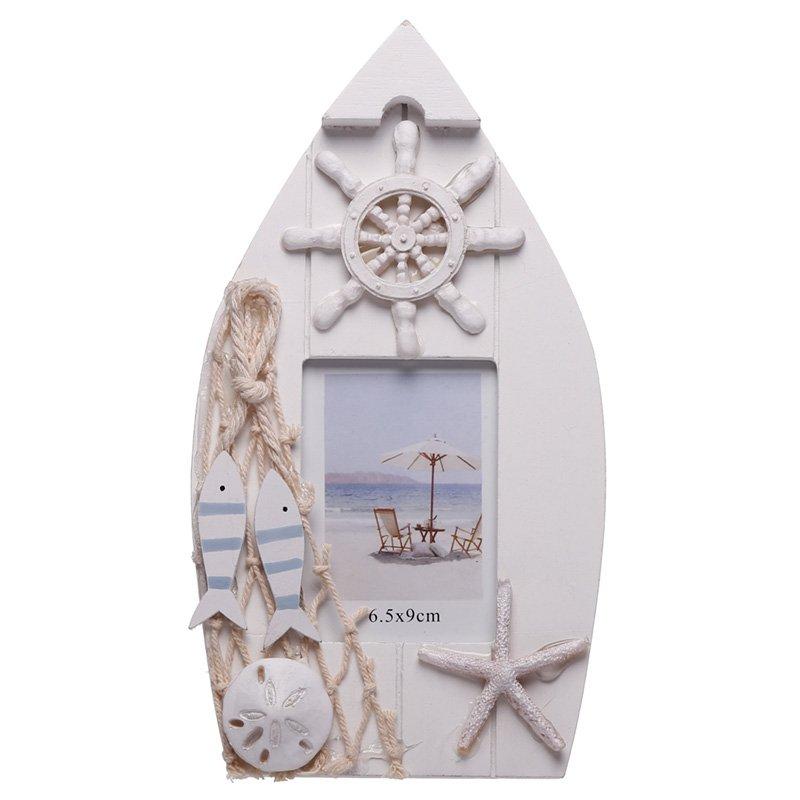 Boat Shaped Nautical Photo Frame