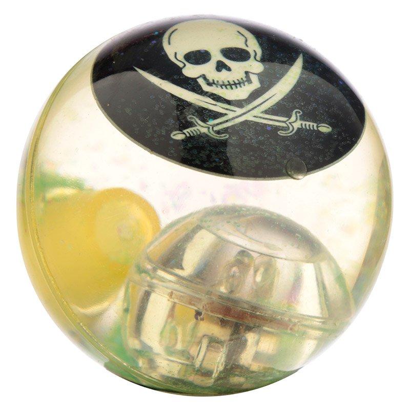 Fun Kids Flashing Rubber Hi-Bounce Ball - Pirate