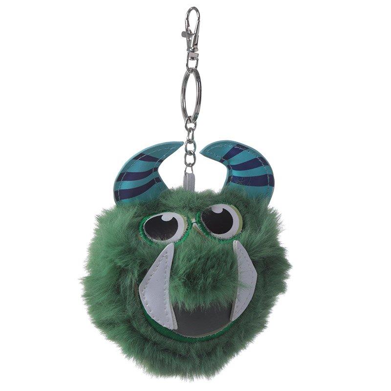 Pom Pom Keyring - Green Monster