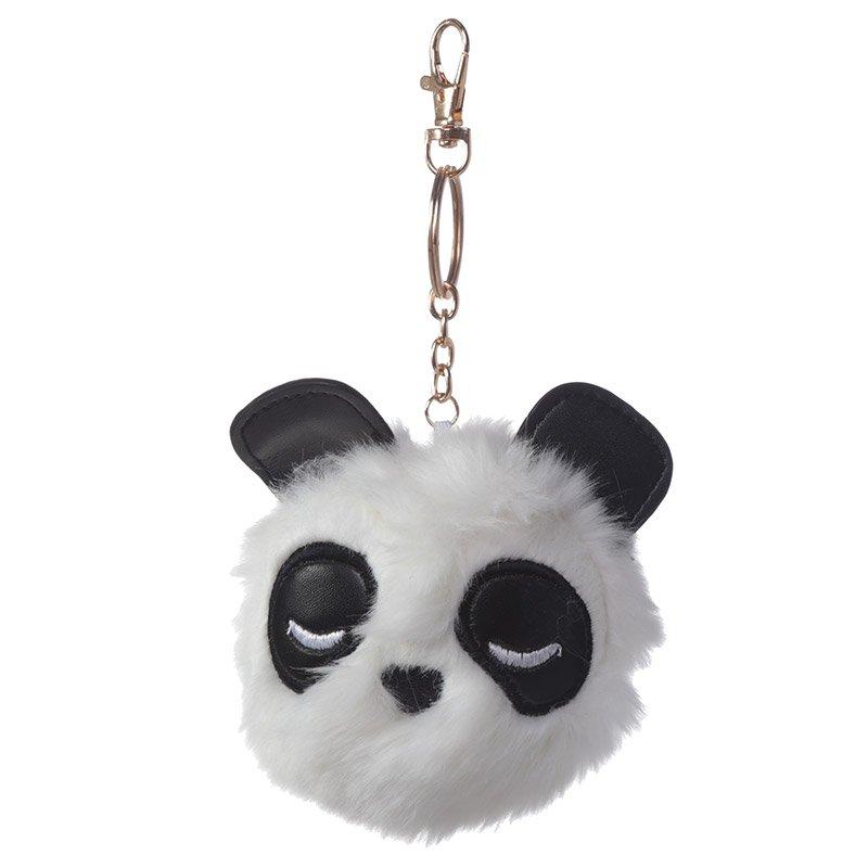 Pom Pom Keyring - Panda