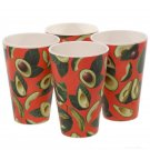 Avocado Eco Friendly Set of 4 Cups