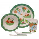 Bamboo Eco Friendly Sloth Design Kids Dinner Set