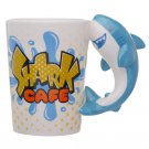 Novelty Ceramic Shark Shaped Handle Mug