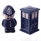 Ceramic Police Box and Policeman Salt and Pepper Set