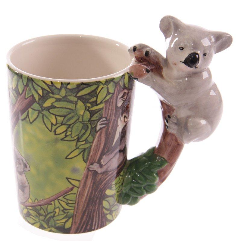 Ceramic Jungle Mug with Koala Handle