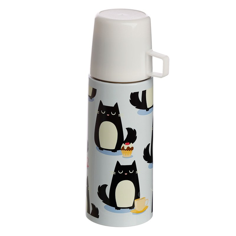 Fun 350ml Flask - Feline Fine Cat Design