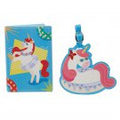 Vacation Vibes Unicorn Luggage Tag and Passport Cover Set