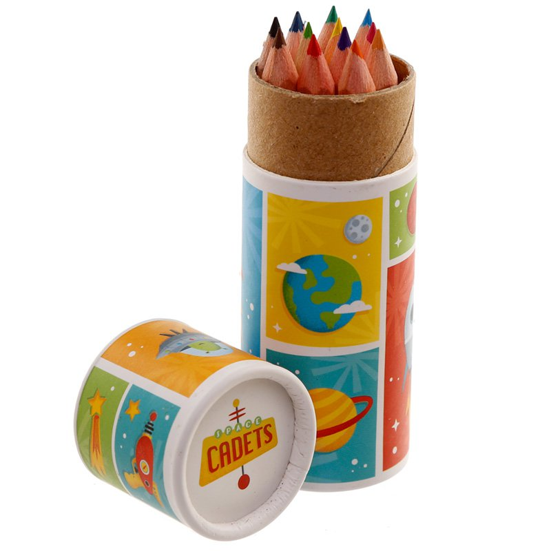 Kids Colouring Pencil Tube - Space Cadet
