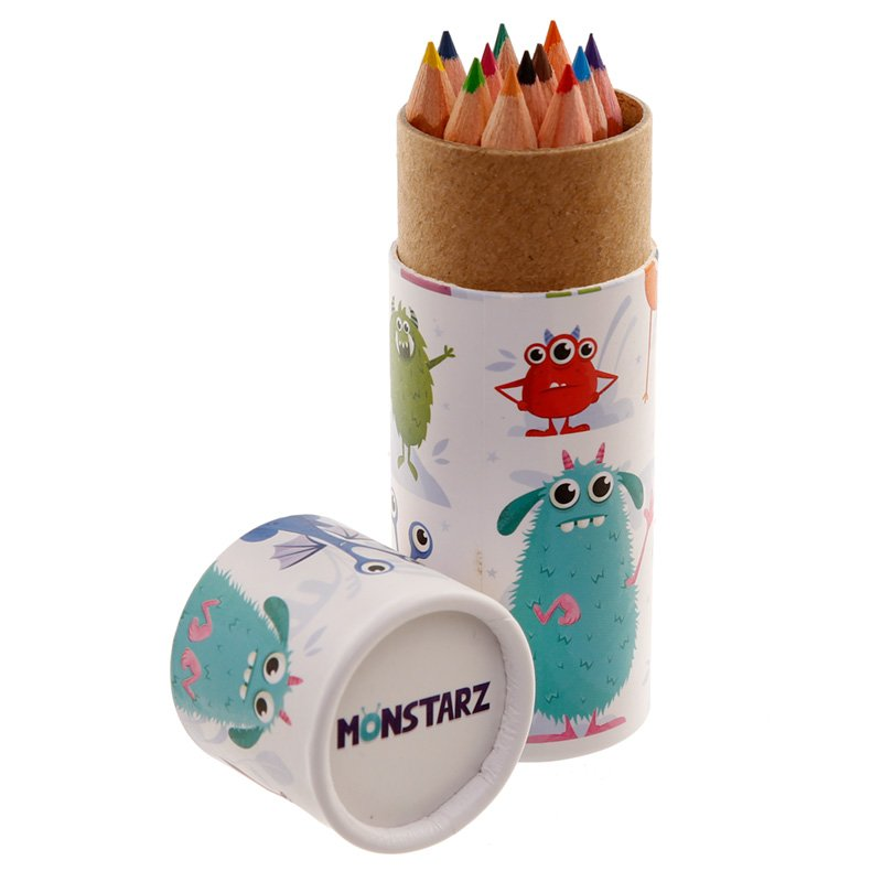 Kids Colouring Pencil Tube - Monsters