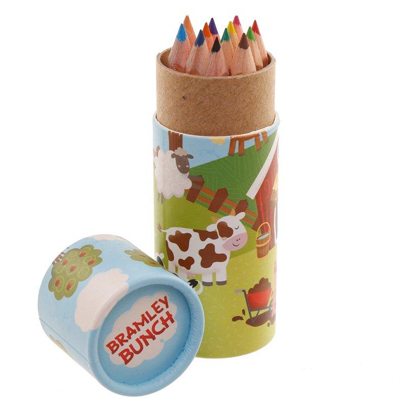 Kids Colouring Pencil Tube - Bramley Bunch Farm