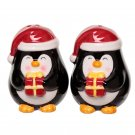 Penguin Ceramic Christmas Salt and Pepper Set